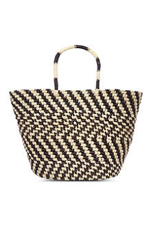 SENSI STUDIO Patterned maxi tote