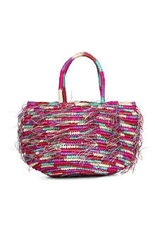 SENSI STUDIO Woven round mini bag