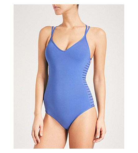 JETS BY JESSIKA ALLEN Parallels V-neck swimsuit (Ibiza