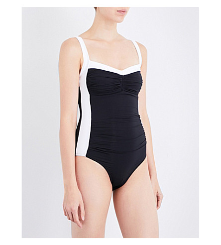 JETS BY JESSIKA ALLEN Classique Banded swimsuit (Black+white