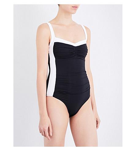 JETS BY JESSIKA ALLEN Classique 条纹泳装 (黑色 + 白色