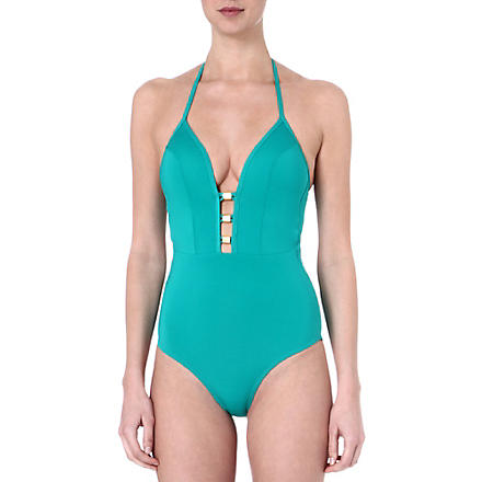 JETS BY JESSIKA ALLEN Vision plunge v-neck swimsuit (Aruba