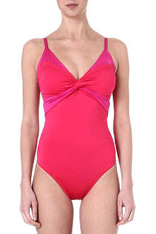JETS BY JESSIKA ALLEN Lustre twist-front swimsuit