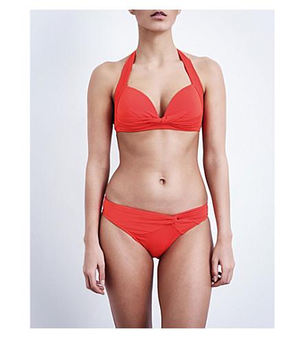 JETS BY JESSIKA ALLEN Jetset 50s halterneck bikini top (Flame