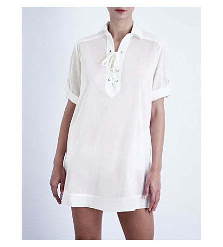 JETS BY JESSIKA ALLEN Promises cotton shirt dress (White