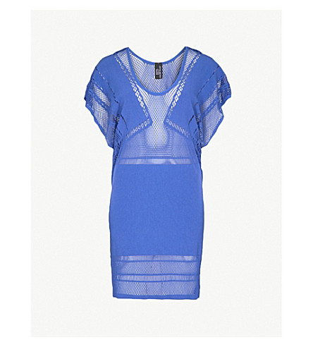 JETS BY JESSIKA ALLEN Parallels cutout woven shift dress (Ibiza