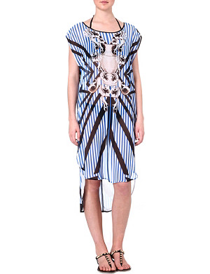 CLOVER CANYON Striped Sculpture cover-up