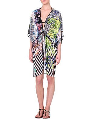 CLOVER CANYON Enchanted garden-print cover-up