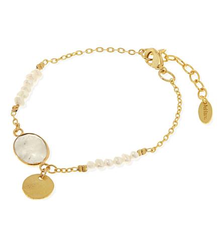 ASHIANA Slim pearl bracelet (Gold