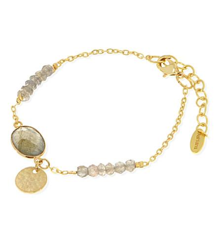 ASHIANA Iridescent bead bracelet (Gold