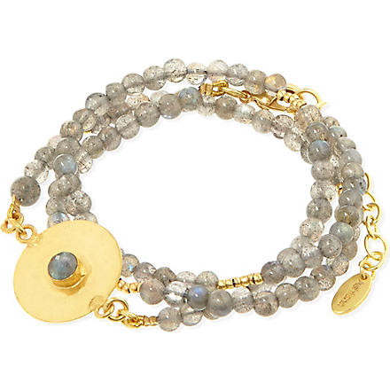 ASHIANA Beaded disc bracelet (Gold/blue