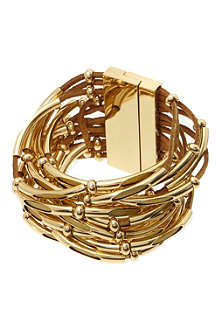 ASHIANA Gold plated leather cuff