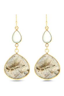 ASHIANA Gold plated aqua earrings