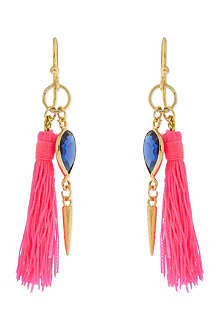 ASHIANA 22-carat gold plated tassel earrings