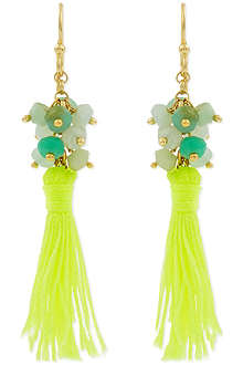 ASHIANA Neon tassel earrings