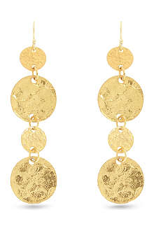 ASHIANA Beaten disc earrings