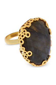 ASHIANA Gold plated stone ring