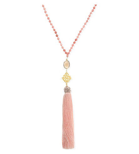 ASHIANA Bead tassel necklace (Pink