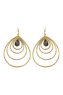 ASHIANA Gold plated teardrop hoop earrings