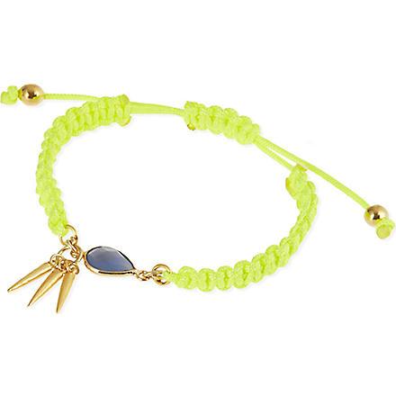 ASHIANA 22-carat gold plated woven bracelet (Gold/lime