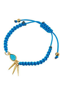 ASHIANA 22ct gold-plated charm bracelet