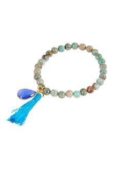 ASHIANA 22 carat gold-plated charm bracelet