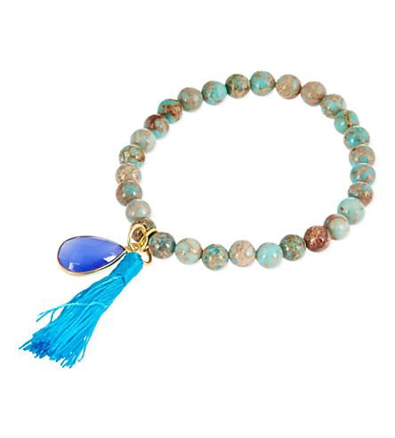 ASHIANA 22 carat gold-plated charm bracelet (Turquoise
