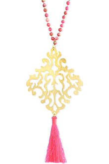 ASHIANA Gold-plated cutwork necklace