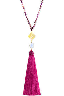 ASHIANA Beaded tassel necklace