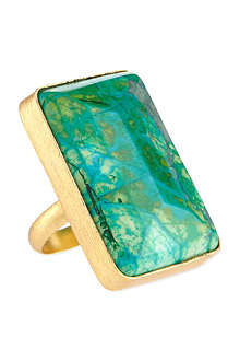 ASHIANA Gold-plated square ring