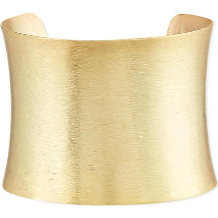 ASHIANA Brushed gold-plated cuff (Gold