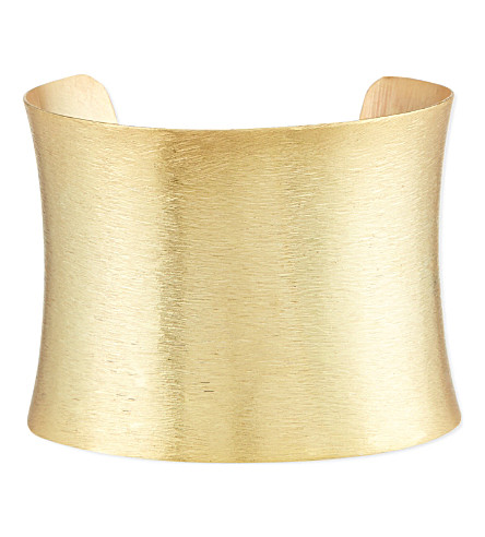 ASHIANA Brushed gold-plated cuff (Gold