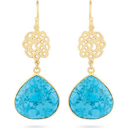 ASHIANA Cutwork earrings (Turq