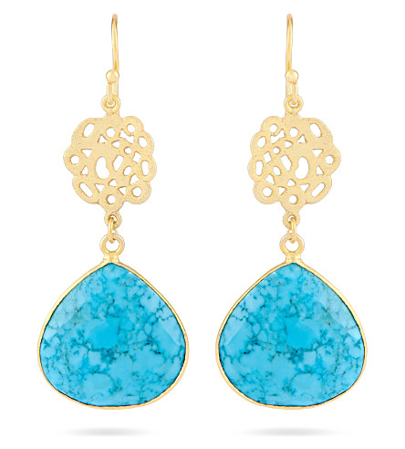 ASHIANA Cutwork earrings (Turq