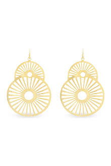 ASHIANA Gold-plated star earrings