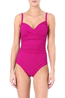KARLA COLLETTO Draped moulded-cup swimsuit