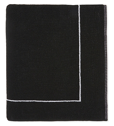 CALVIN KLEIN Intense Power logo cotton towel (001+black