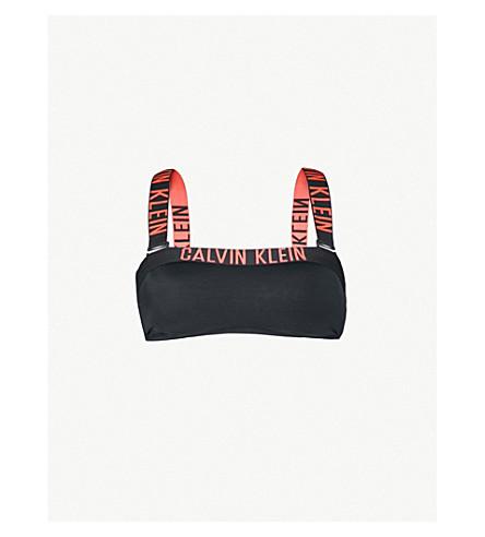 CALVIN KLEIN Bandeau bikini top (092+black+hot+coral