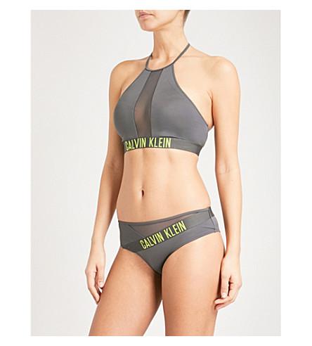 CALVIN KLEIN Intense Power bikini top (017+forged+iron