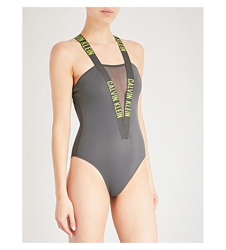 CALVIN KLEIN Intense Power swimsuit (017+forged+iron