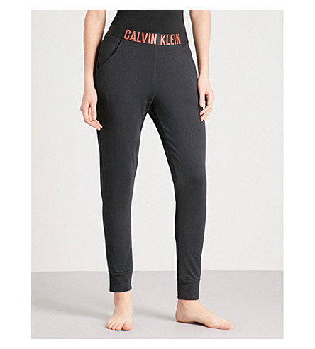 CALVIN KLEIN Intense Power stretch-jersey trousers (092+black+hot+coral