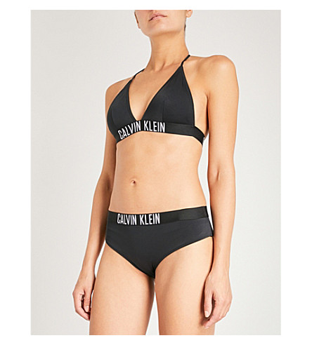CALVIN KLEIN Intense Power triangle bikini top (001+pvh+black