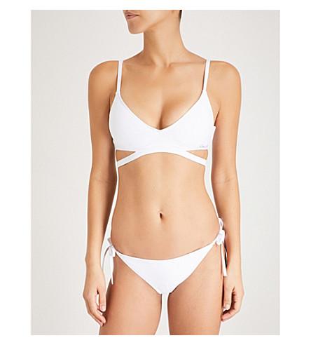 CALVIN KLEIN Core Neo triangle bikini top (100+pvh+white