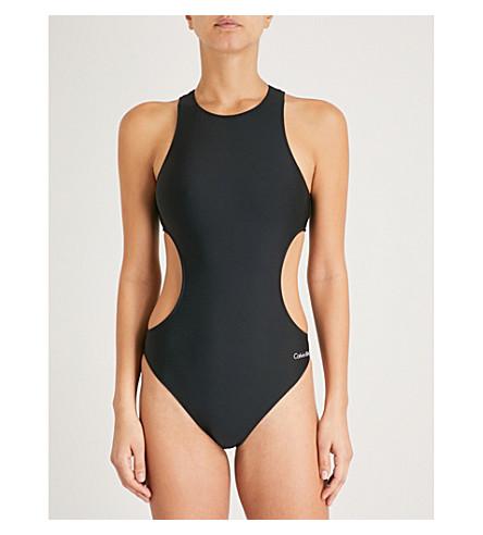 CALVIN KLEIN Core Neo cutout swimsuit (001+pvh+black