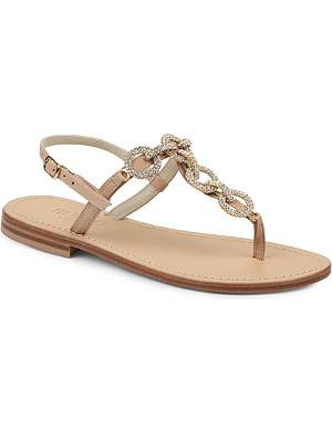 MUSA Crystal-embellished leather sandals