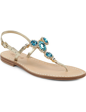MUSA Jewelled T-bar sandals