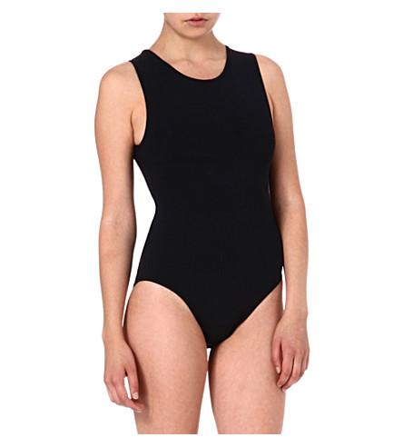 BETH RICHARDS Grace monochrome swimsuit (Black