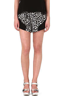 SUBOO Printed silk shorts