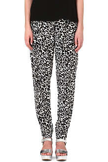 SUBOO Printed silk trousers