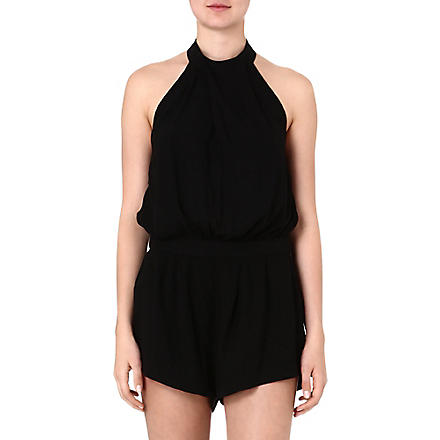 SUBOO Jersey playsuit (Black